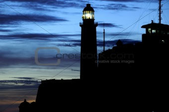 """El Morro"" lighthouse in Havana, cuba"