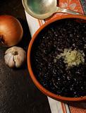 Cuban typical food - black beans