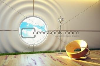 modern lounge room interior