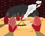 masai camp fire