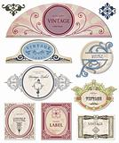Collection vintage labels  for your design. Vector
