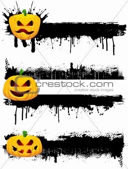 Grunge Halloween borders