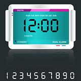 Digital alarm clock blue