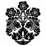 Vector Floral Vase Ornament