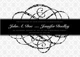 Vector Distressed Swirl Ornament and Frame