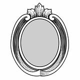 Vector Ornate Oval Frame