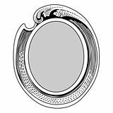 Vector Ornate Wave Frame