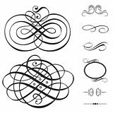 Vector Swirl Ornament Set