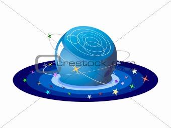 crystal ball of stars