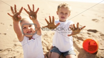 Sandy beach kids