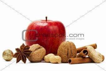 apple anise cinnamon and nuts