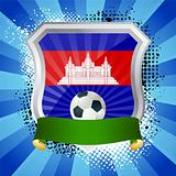Shield with flag of  Cambodia