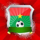 Shield with flag of Burkina Faso