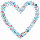 Valentine romantic frame (vector)