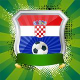 Shield with flag of Croatia