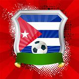 Shield with flag of  Cuba