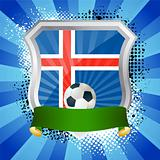 Shield with flag of  Iceland