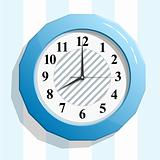 Abstract glossy clock icon vector illustration.