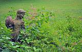 Girl statue in garden