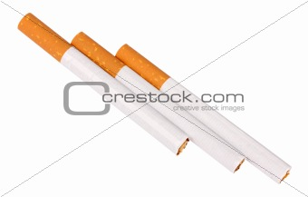 Three cigarettes with filter