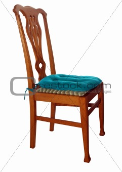 Antique Chair with Cushion