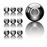 Set of shiny icons