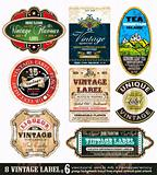 Vintage Labels Collection -Set 6