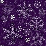 Christmas Seamless violet Pattern