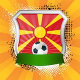 Shield with flag of  Macedonia
