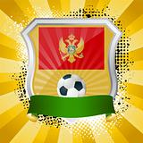 Shield with flag of Montenegro
