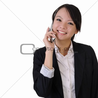 business woman with cellphone