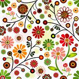 Floral vivid seamless pattern