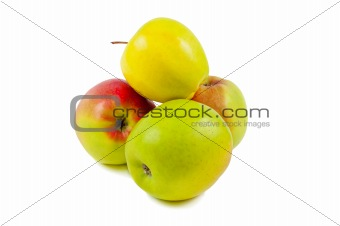 Apples isolated on a white background.