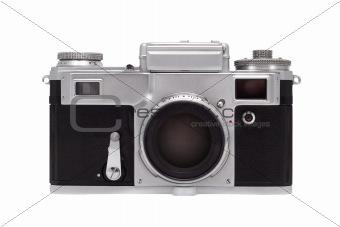 Camera isolated on white background.