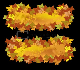 Autumn beauty banners
