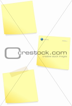 Adhesive note vector illustration set.