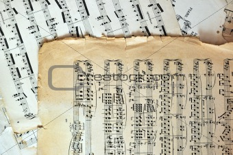 Old music sheet pages - art background