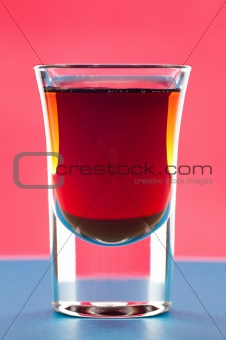 Rum in shot glass
