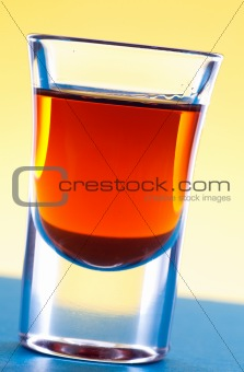 Alcohol in shot glass