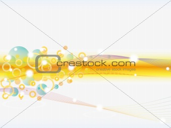 Abstract colorful background. Vector circles and waves