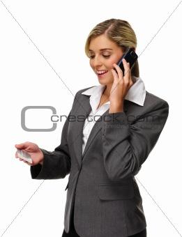 Blonde finance banker