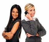 Cute attractive businesswomen