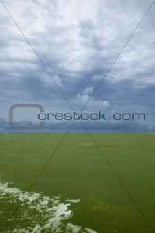 Green Atlantic  sea on Senegal