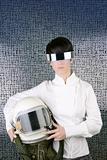 futuristic spaceship aircraft helmet astronaut woman