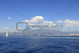 Alicante province white coast sailboat sailing