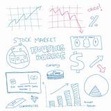 Hand drawn scribble of finance