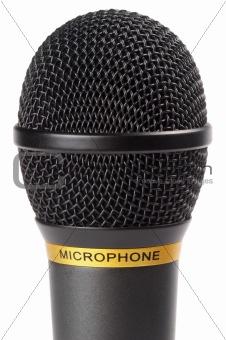 Black wireless microphone