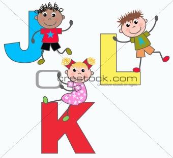 alphabet letters J K L