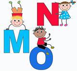 alphabeth letters M N O
