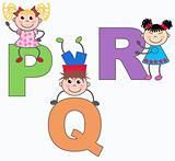alphabeth letters P Q R